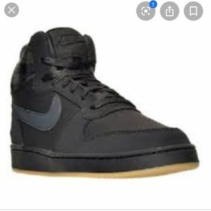 Nike Court Borough Mid Premium Black Gray